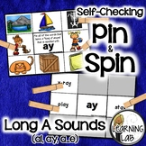 Long A Sounds (ai, ay, a_e) - Self-Checking Phonics Centers