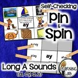 Long A Sounds (ai, ay, a_e) - Self-Checking Phonics Centers