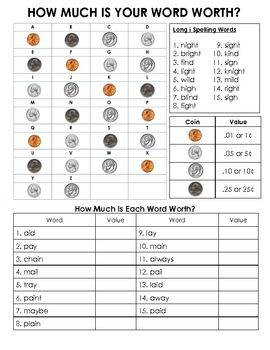 Long A Spelling Words with the ~ai and ~ay spelling pattern Activity Packet