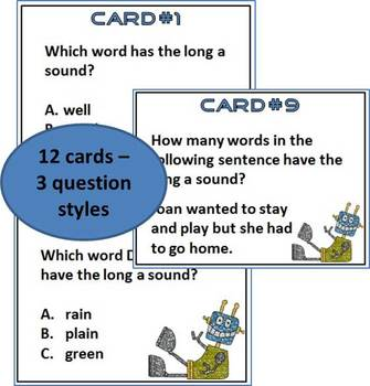 Long A Task Cards