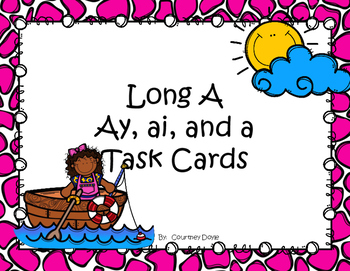 Long A Task Cards (ay, a, ai)