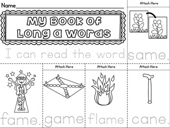 Long A (CVCE) Vowel Activity Unit ~ Magic E / Bossy E