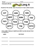 Long A Vowel Assessment