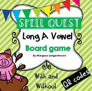 Long A Vowel Board Game (with or without QR codes)