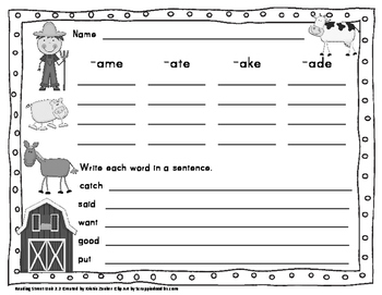 Long A Vowel Sort for The Farmer in the Hat