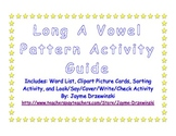 Long A Vowel Sound Activity Packet