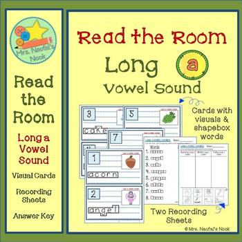 Alphabet Read the Room Long Vowel A