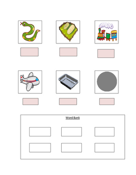 Phonics Worksheet with Long A Words For The Non-Writer