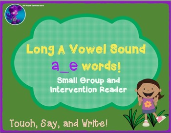 Long A Vowel Sounds : a_e Words Small Group Reader