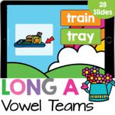 Long A: Vowel Team AI and AY Phonics Practice Google Slides Digital Resource