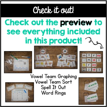 Long A Vowel Team Centers Word Work