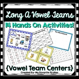 Long A Vowel Team  Word Work Centers