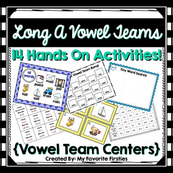 Long A Vowel Team Centers/Word Work