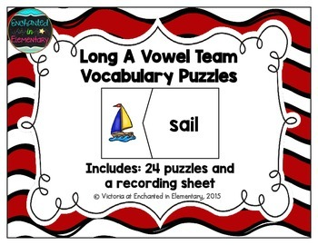 Long A Vowel Team Vocabulary Puzzles