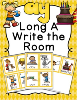 Long A Vowel Team ay Write the Room