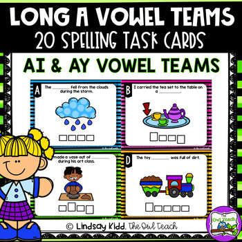 Long A Vowel Teams:  AI and AY Spelling SCOOT