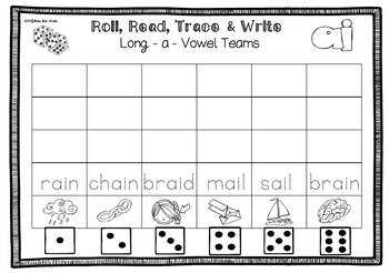 Long A Game: Roll, Read and Trace