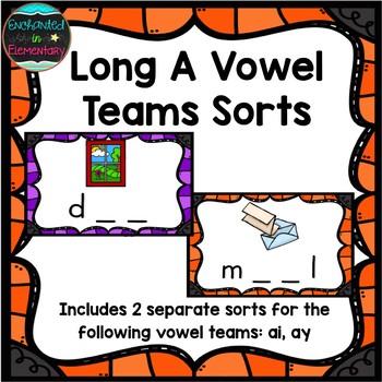 Long A Vowel Teams Sort