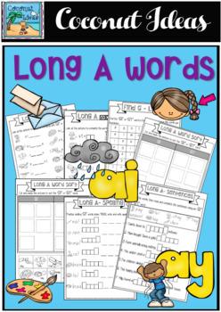 Long A Vowel worksheet set