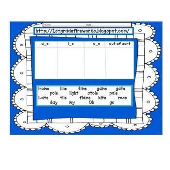 Long A Vowels with Silent E