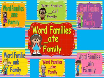 Rhyming Words/ Word Families Long A Power Points & Printables Bundle