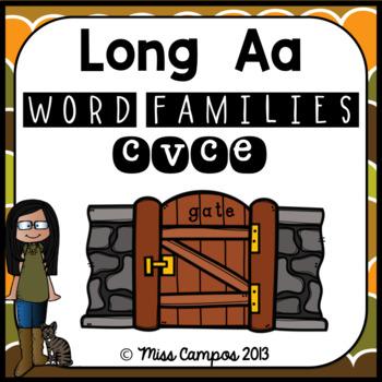 Long Vowels Long A Magic E CVCe Words