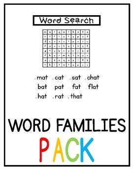 Long A Word Families Bundle NO PREP