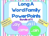Long A Word Family PowerPoints Bundle for K, 1st or 2nd (Common Core)