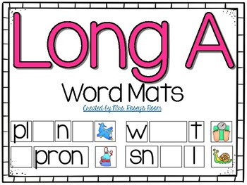 Long A Word Mats  **Works with Vowel Teams & SoundPrints!**