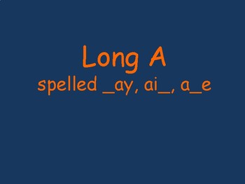 Long A Word Reading Fluency
