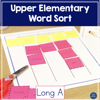Long A Word Sort  - Intermediate