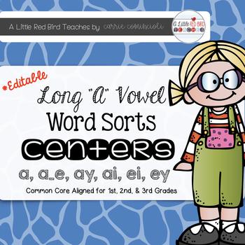Long A Word Sorts {Editable}