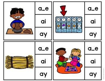 Long A Word Work Centers & Activities (a_e, ai, ay)