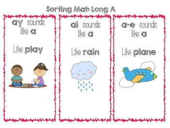 Long A Word Work - Phonics Centers