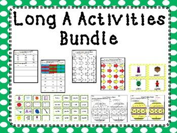 Long A Words Activity Bundle