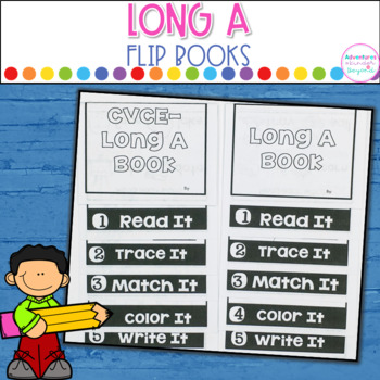 Long A Words- Flip Book