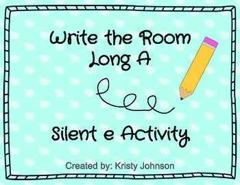 Long A Write the Room with Silent e