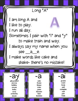Long A (-a, -ay, -ai) 3 Centers (Read and Write the Room, Word Fill, Sentences)