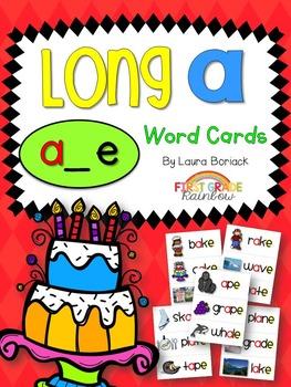 Long A a_e Word Cards