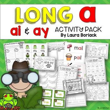 Long A ai & ay ~ Activity Pack