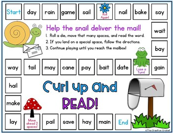 Long A (ai, ay, CVCe) Phonics Game - Great for Centers and Small Groups!