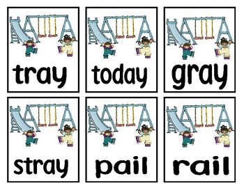 Long A {ai & ay} Decodable Word Game