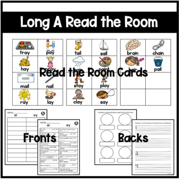 Long A- ai/ay Differentiated Read the Room