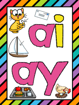 Long A (ai / ay) Phonics Worksheets (No Prep)