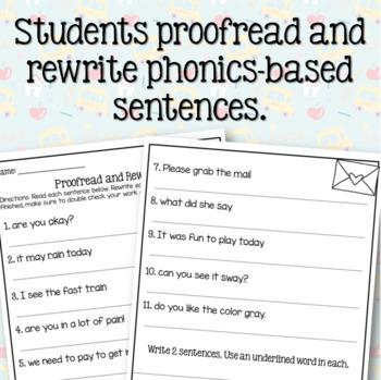 Long A (ai & ay) Sentence Writing Activity (3 in 1)