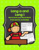 Long A and Long I Word Sorts and Word Work Activities: Pri