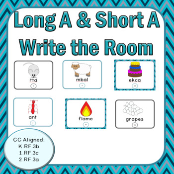 Long A and Short A: Write the Room