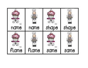 Long A (cvce) Memory Match Game