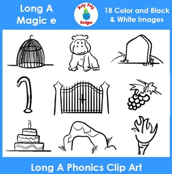 Long A (magic e) Phonics Clip Art Set 1