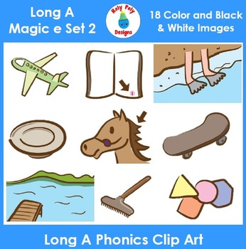 Long A (magic e) Phonics Clip Art Set 2